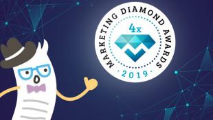 Ezt nem hiszitek el! 2019-ben is 4x-es díjazott a Billingo a Marketing Diamond Awards-on