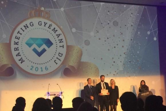 Az első szakmai díj - A Marketing Gyémánt Díj - Design és kreatív kategóriájában  a Billingo online számlázó web app és promóciós oldallal Marketing Gyémánt Díjat nyertünk.